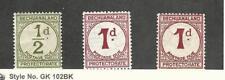 Bechuanaland, Postage Stamp, #J4, J5, J5a Mint Hinged, 1932-58