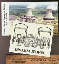 2 Byron Generating Station 6 pro/anti-Nuclear Power Plant Advertising post cards