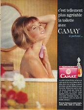 PUBLICITE ADVERTISING  1964   CAMAY  savon si parfumé
