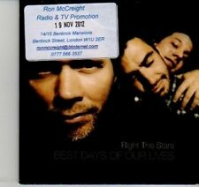 (DI569) Right The Stars, Best Days of Our Lives - 2012 unopened DJ CD