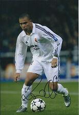RONALDO SIGNED Autograph Real MADRID 12x8 Photo AFTAL BRAZIL World Cup WINNER