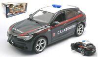 Model Car Alfa Romeo Stelvio Carabinieri Scale 1/24 New Burago Bburago Cc