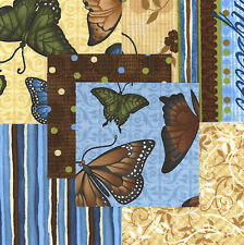 """Butterfly Bliss 30 4"""" fabric squares 100% cotton quilting quilt"""