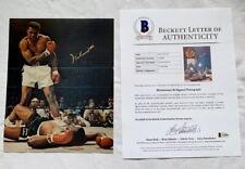 Muhammad Ali signed autograph 8x10 photo Beckett BAS