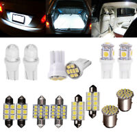 14pcs White LED Interior Package Kit T10 36mm Map Dome License Brake Lights Bulb