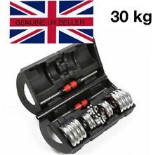 Adjustable York 30kg Dumbbells / Barbell Set Gym Training Slim Tone