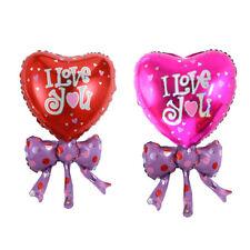 2pcs Heart Shape Bow Aluminum Balloon Decorated Wedding Party Foil Balloon ATAU