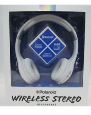 Polaroid $60 NIB Wireless Stereo Headphones Hi Def Bluetooth Rechargeable White