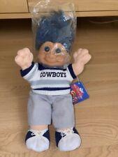 "Dallas Cowboys Wee Troll Kidz Doll 12"" doll - NFL Plush by RUSS - New with Tag"