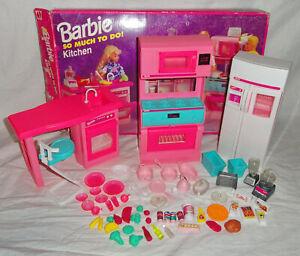 Vintage 1995 Barbie So Much To Do Kitchen With Original Box