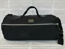 FRED PERRY Barrel Gym Bag Black HEAVY Canvas Carry Duffle Shoulder Bags New R£95