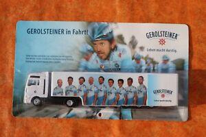 Miniature Camion équipe cycliste Gerolsteiner Tour de France sous blister