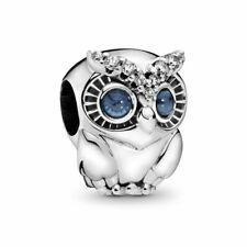 New Authentic Genuine Silver Pandora Sparkling Owl Charm 798397NBCB pouch