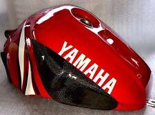 Yamaha R1 2000-2001 RN04 2x Carbono Tankprotektoren 10mm Kevlar + Acero Tanque
