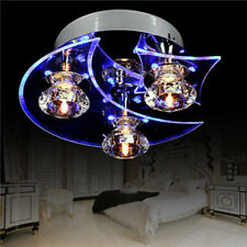 Star & Moon Retro Dining Room Crystal Chandelier Ceiling LED Light Bedroom Kids