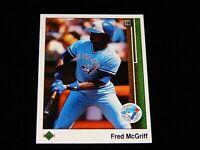 Vintage MLB Baseball Card, 1989 UPPER DECK, TORONTO BLUE JAYS, Fred McGriff,#572