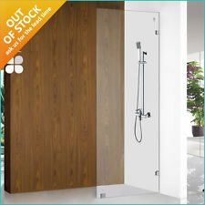 Shower Panel 900 Frameless Screen Single Wet Room 10mm Tough Glass AU Standard