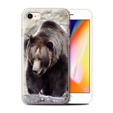 Animaux sauvages Coque Gel pour iPhone 8/Ours