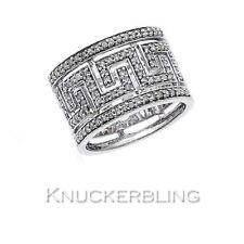 9 Carat White Gold Wedding Band Fine Diamond Rings
