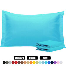 Set of 2 Pillow Shams 1800 Series Standard Queen King All Sizes All Colors