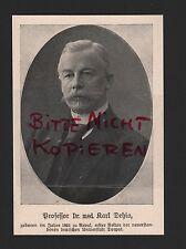 Werbung 1918, Bildnis Portrait Professor Dr. med. Karl Dehio WWI