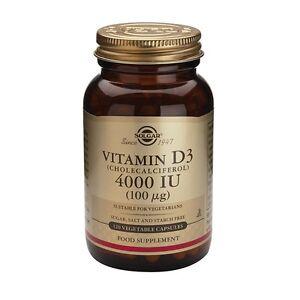 Solgar Vitamin D3 4000 IU - Pack of 120 Capsules UK Seller!