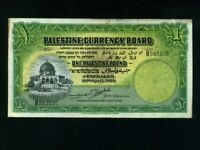 Palestine Currency Board:P-7c,1 Pound,1939 * RARE * Israel * VF *