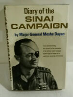 Diary Sinai Campaign General Moshe Dayan 1st edition 1966 Israel hero HB book