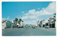 1950's BLYTHE CA BUSINESS DOWNTOWN VINTAGE POSTCARD CALIFORNIA WOODY WAGON OLD !