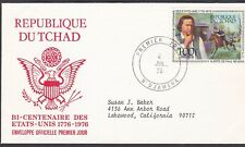 CHAD 1976 FIRST DAY COVER AMERICAN BICENTENNIAL PAUL REVERE'S RIDE ART PAINTING