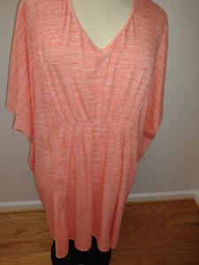 Catherines Sleepwear Night Gown Kaftan Orange Plus Size  4X (30/32W)