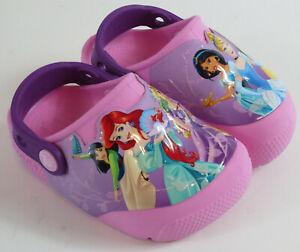Crocs Disney Princess Clog Toddler Girls Size C7 Pink Light Up 204714
