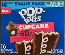 NEW KELLOGGS POP TARTS CUPCAKE FROSTED CHOCOLATE 27 OZ BOX 16 TOASTER PASTRIES