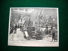 A Roma nel 1885 - L'Esposizione Penitenziaria Internazionale, sala dei prodotti
