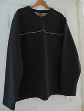 MEN'S 2XL/XXL WINTER WEIGHT POLYESTER/COTTON WEST ROCK V-NECK RIB EFFECT TOP.NWT