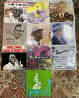 "Lot Of Jazz Vintage Vinyl Record Albums 12"" 33 RPM Nat King Cole Sinatra.."