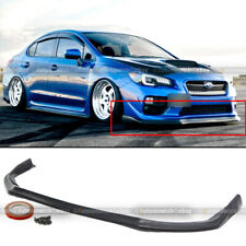 For 15-17 Subaru Impreza EJ25 FA20 WRX STI JDM Style PU Front Bumper Lip Spoiler