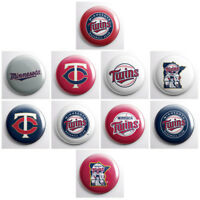 "MINNESOTA TWINS - MLB baseball pinback buttons - sports team pin - 1"" pins"