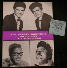 EVERLY BROS, LITTLE RICHARD, ROLLING STONES - 1963 Orig Tour Programme & Ticket