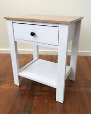 2 x Bedside Tables Hamptons French Provincial White Chest Night Stand 1 Drawer
