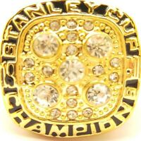 1990 Edmonton Oilers Messier NHL Stanley Cup 18k Gold Plated Championship Ring