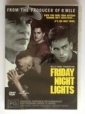 Friday Night Lights (DVD, 2005, Region 4) Billy Bob Thornton Brain Grazer VGC