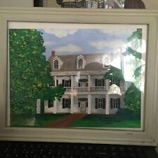 OUTSIDER SOUTHERN HOME OIL PAINTING