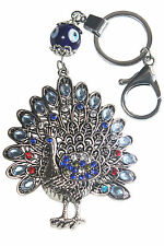 Feng Shui Evil Eye Blue Amulet Car/Home Hanging,Nazar Kavach Peacock