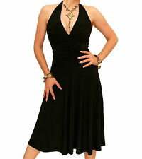 New Halter Neck Knee Length Evening Dress