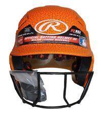 Rawlings Velo Junior R16 Series Crackle Batting Helmet & Face Mask: Orange