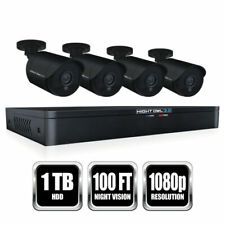 NEW Night Owl 8 Channel HD Video Security DVR 1TB HDD, 4X 1080p HD Wired Cameras