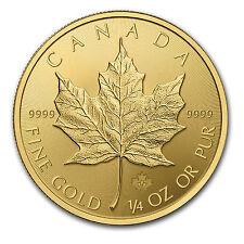 2015 Canada 1/4 oz Gold Maple Leaf BU - SKU #84892