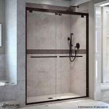 "DREAMLINE ENCORE 56""-60"" X 76"" BYPASS SLIDING SHOWER DOOR, 5/16"" CLEAR GLASS/ORB"