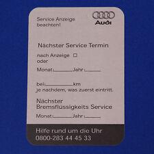 16x Audi Serviceaufkleber Ölwechsel Wartung Servicetermin Kundendienst Aufkleber